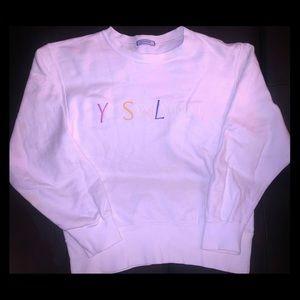 White authentic YSL sweater (Yves Saint Laurent )